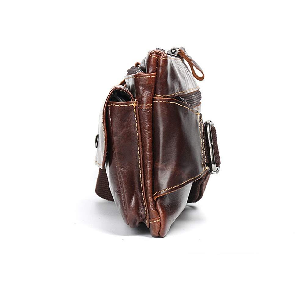 Sviper Waist Bag Belt Holster Bag Fanny Waist Pack Crossbody Bag for Men Boy Brown Cowhide Travel Neck Pouch Waist Cross Package