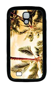 Samsung S4 Case,VUTTOO Cover With Photo: Beach Palm Trees For Samsung Galaxy S4 I9500 - TPU Black