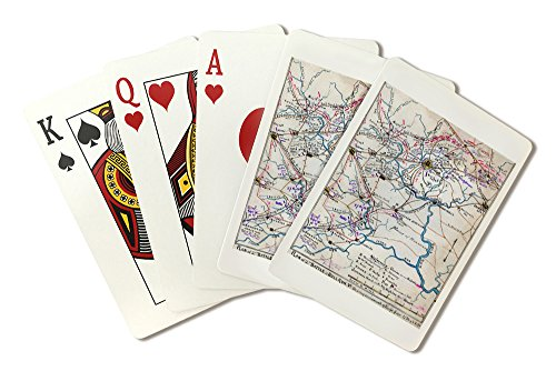 Second Battle of Bull Run - Civil War Panoramic Map (Playing Card Deck - 52 Card Poker Size with Jokers)