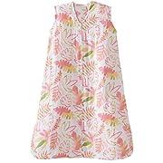 Halo 100% Cotton Muslin Sleepsack Wearable Blanket, Pink Leaves, Medium