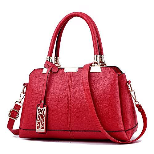 Tracolla Cm Moda Donna 31 14 Spalla A C Portatile Rossa Una Alla Rosso 19 Da Borsa Fannb wTYgAnqI66
