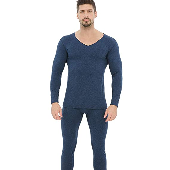596fc0286f Baijiaye Hombres Ropa Interior Termica de Invierno Camiseta Térmica Manga  Larga Pantalones Largos Termica para Diario