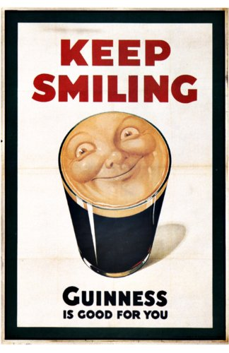 Art Print - Guinness - Keep Smilling By John Gilroy - 1936