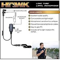 HAWK Police Lapel Microphone QR Earpiece for Vertex VX 2-Way Radios (See List)