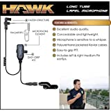 HAWK Police Lapel Microphone QR Earpiece for Vertex VX 2-Way Radios (See List)