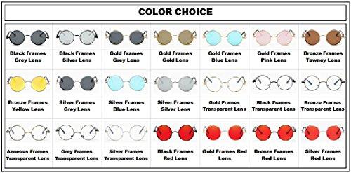 Gafas al sol redondas Amantes viaje Mujeres las libre de sol Lente de hombres gafas de verano moda Rojo de Dorado de unisex Marcos para aire de deportivas de metal vwqwXrHn