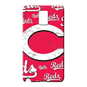 samsung note 4 Excellent Fitted High-definition Forever Collectibles phone carrying shells cincinnati reds mlb baseball