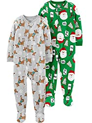 Large-scale appliques sweeten this 2-pack of footed sleep-and-play suits with quick-dressing zippers.