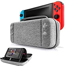 Portable Nintendo Switch Stand Storage Case, EFFE Protective Hardshell Travel Case Carrying Bag Cover with Handle & Stand fit Nintendo Switch Console and Accessories