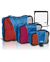Travel Packing Cubes - High Quality Set of 3 Luggage Organizer Bags By TrekReady - Plus Bonus Liquids Bag