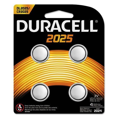 DURDL20254PK - Duracell Button Cell Lithium Battery 2025 4 pack