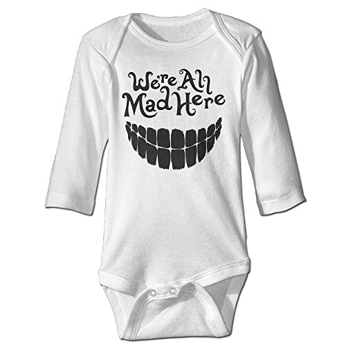Missone Newborn We Are Mad Here Long Sleeve Jumpsuit Outfits (Alice In Wonderland Cast Costumes)