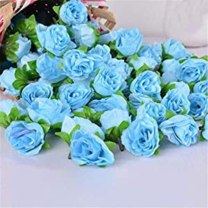 JIAHUADE Simulation Rose Artificial Flower Head Handwork DIY Little Bud Wedding Decorated Wall Flower Arrangement for Wedding Party 18