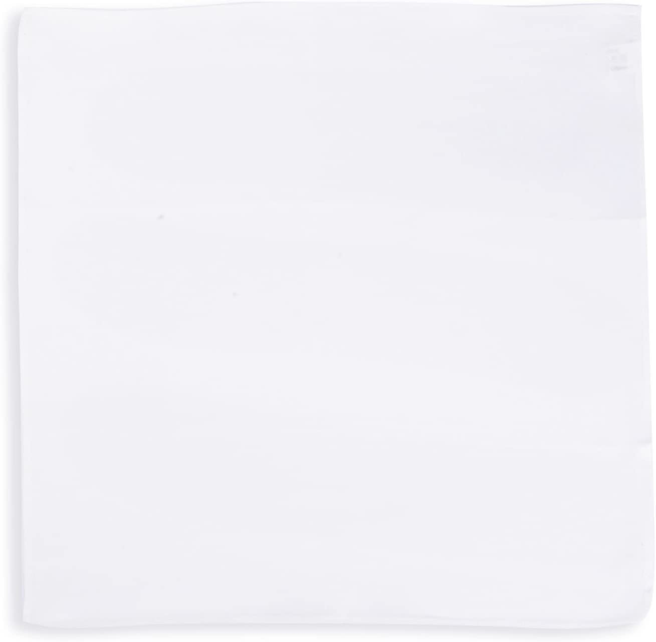 SelectedStyle 100/% Pure Silk Pocket Square Solid White
