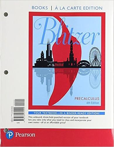 Precalculus books a la carte edition 6th edition robert f precalculus books a la carte edition 6th edition 6th edition by robert f blitzer fandeluxe Image collections