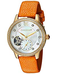 Thomas Earnshaw Men's 'Lady Australis' Automatic Stainless Steel and Leather Dress Watch, Color:Yellow (Model: ES-8029-06)
