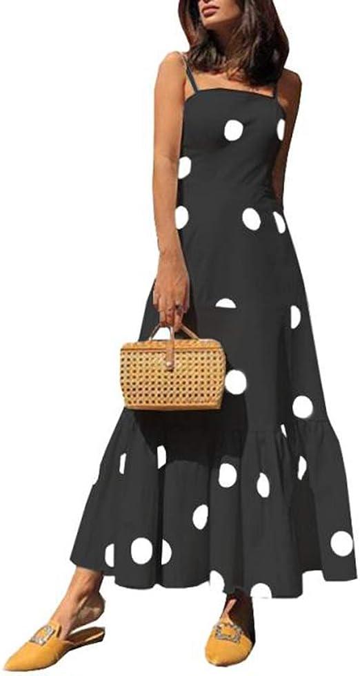 LARRY-X Vestido de Noche de Gasa para Mujer, con Estampado Floral ...