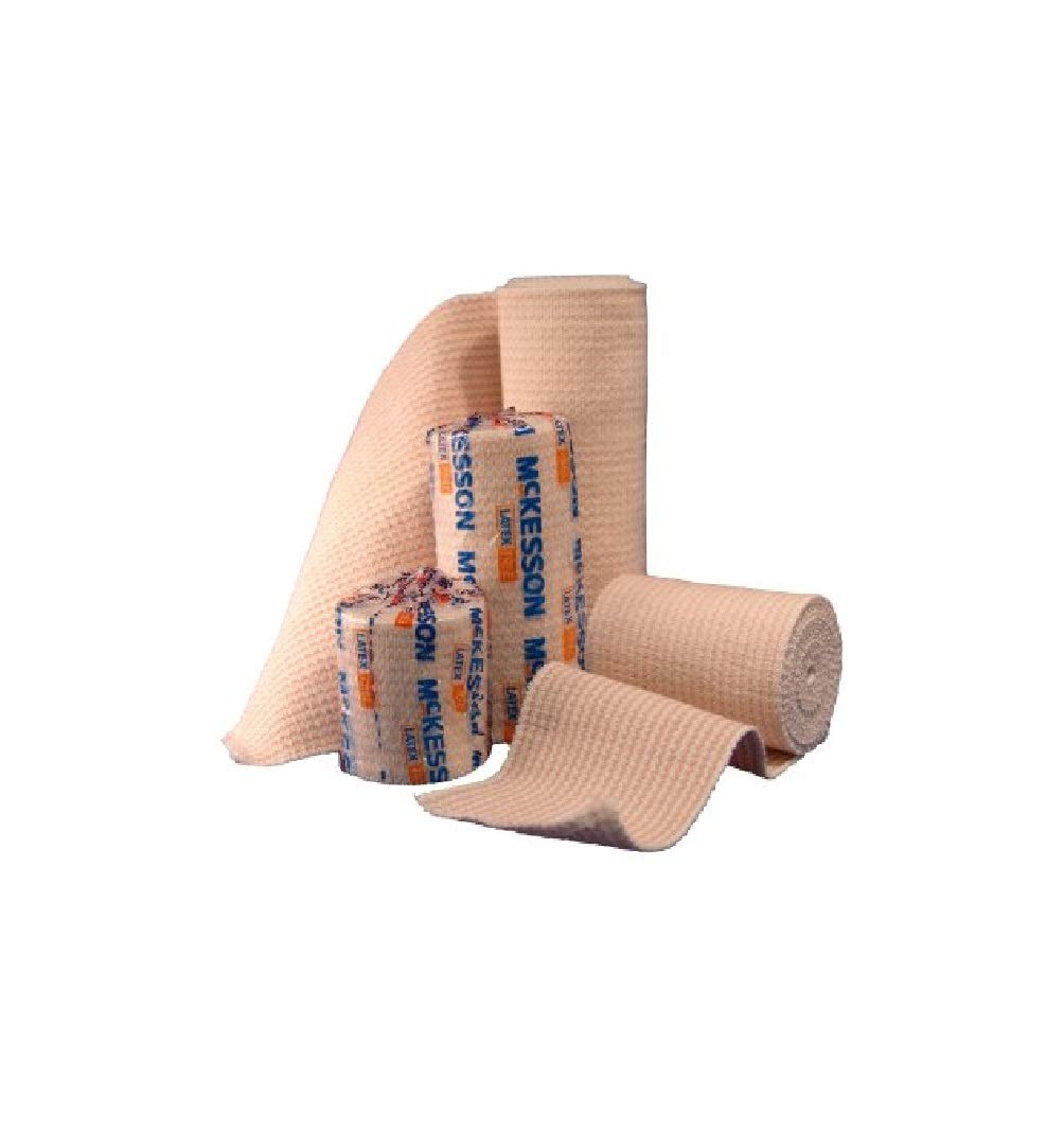 McKesson 16-1033-2 Medi-Pak Knit Elastic Bandage, Premium, Single Self-Closure, Honeycomb, Non-sterile, Stretched, 2'' W x 5yd. L, 2'' Width, 180'' Length (Pack of 50)