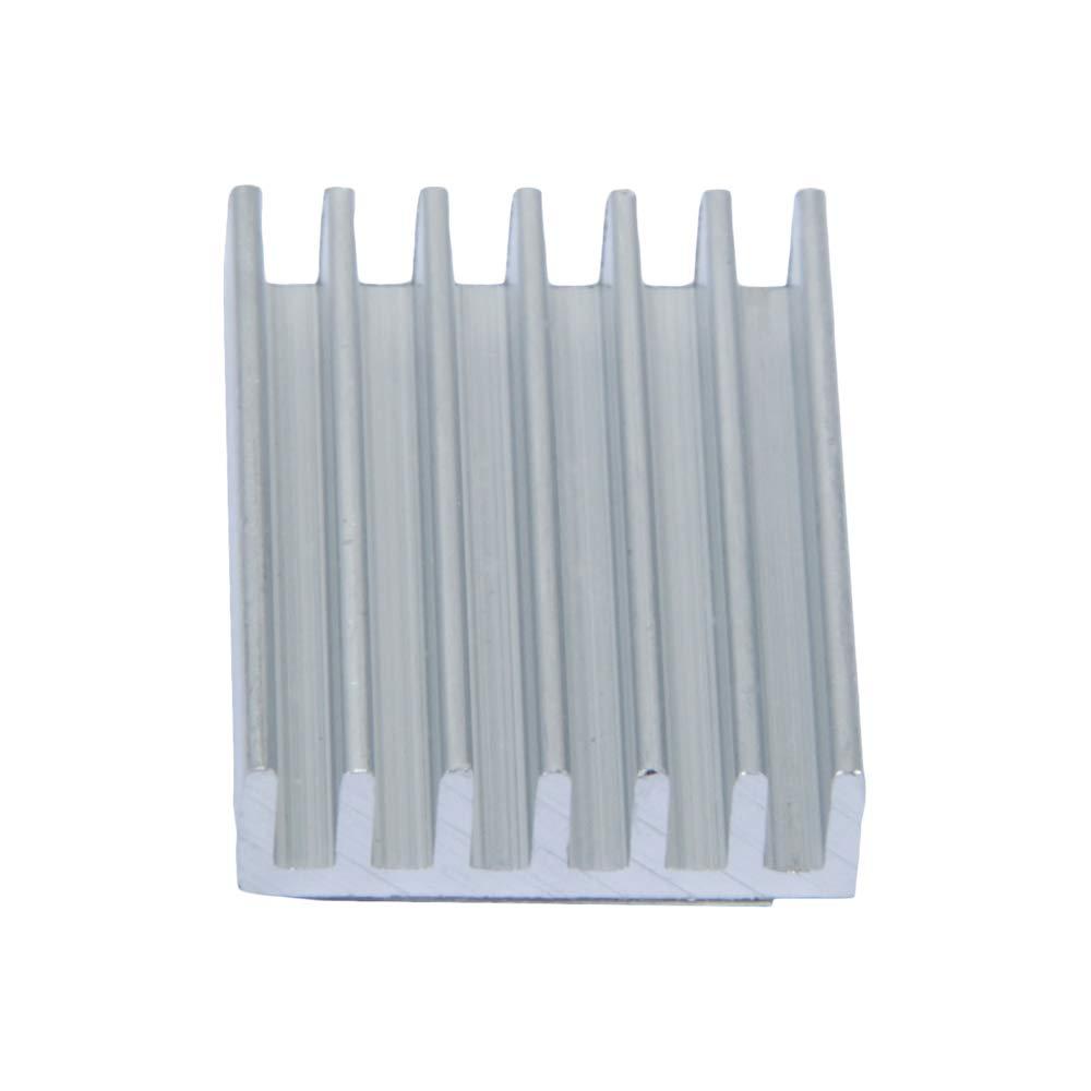 TeOhk 5Pcs Aluminum Heatsink Cooling Radiator Heat Sink Module Cooler Fin with Adhesive Pad for 3D Printer MA8 MK8 26x19x6mm