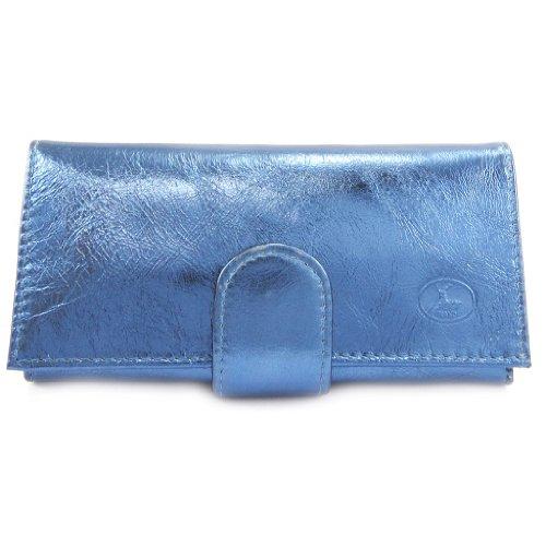 Ampio portafoglio in pelle 'Frandi'electra blu.