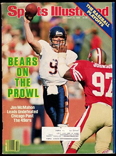 Jim Mcmahon Football - SI: Sports Illustrated October 21, 1985 Jim McMahon, Football, Chicago Bears, VG