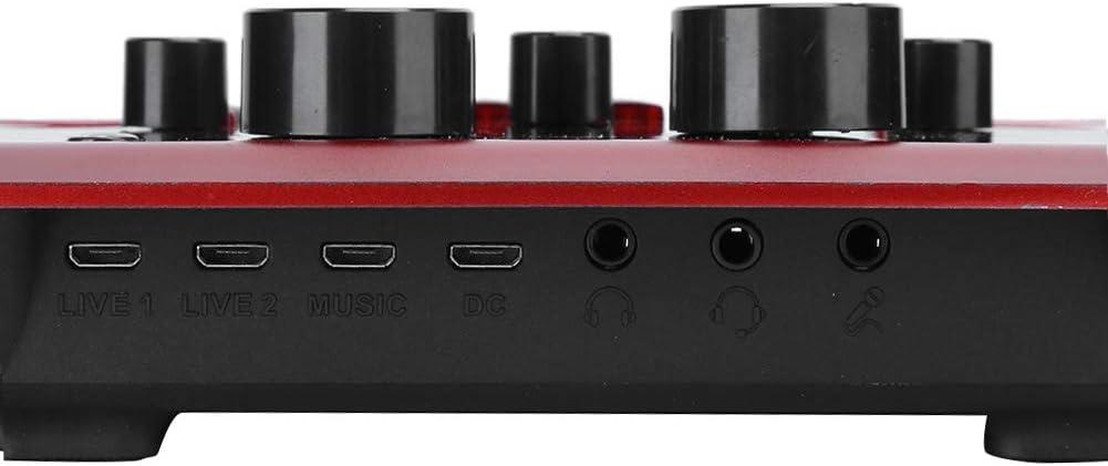 Scheda audio universale per esterni 12 tipi di scheda audio per effetti sonori di trasmissione dal vivo 6 tipi di scheda audio per effetti sonori ambientali con microfono per cuffie per giochi dal v