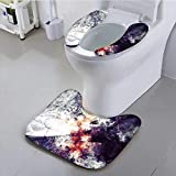 UHOO2018 Use The Toilet seat Bright Paint Texture Grunge Color Background Non-Slip