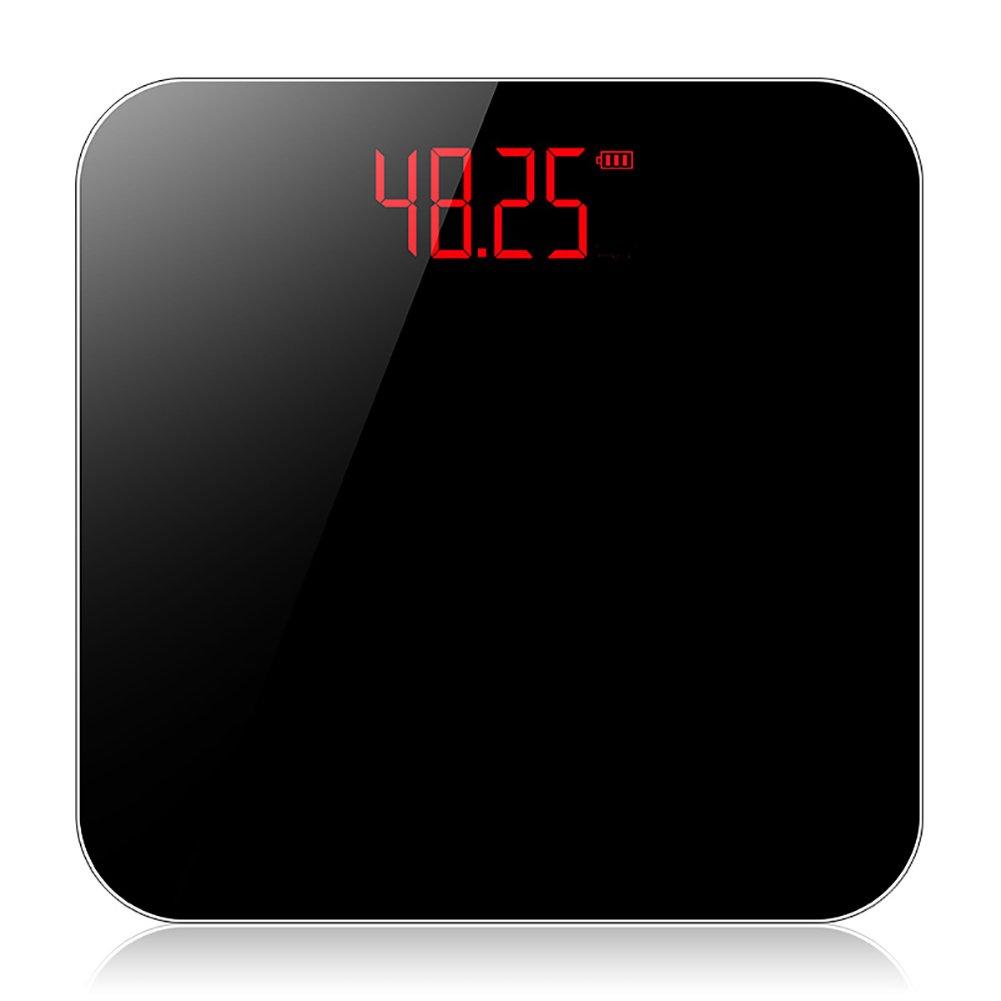 Básculas de pesaje electrónicas Básculas de Cuerpo doméstico Básculas de Pérdida de Peso Adultas precisas, Carga USB (Color : Black): Amazon.es: Hogar