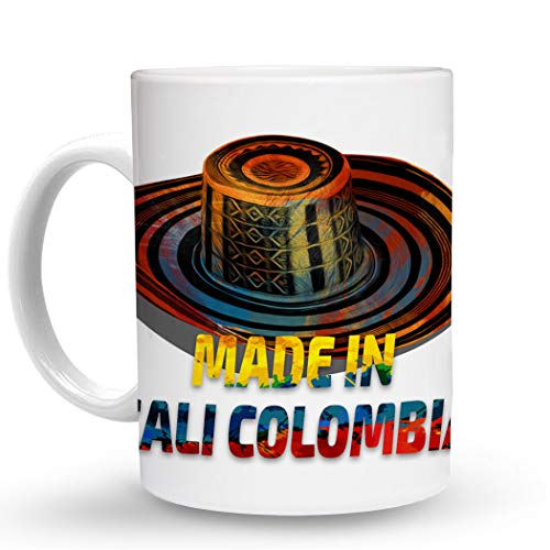 Makoroni - MADE IN CALI COLOMBIA Colombian Colombia - 11 Oz. Unique COFFEE MUG, Coffee Cup (Best Coffee In Cali Colombia)