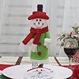 New Santa Bottle Set Champagne Wine Bottle Bag Restaurant Christmas Decoration Supplies Snowman paragraph