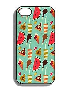 Humor Case-Customized Yummy Iphone 4 4s Black White TPU Silicone Case