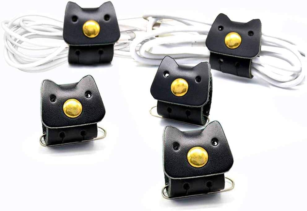 cord organizer ear bud holder Free shipping Canada and USA genuine leather,set of 4 cord caddy headphone case,cable holder cord keeper