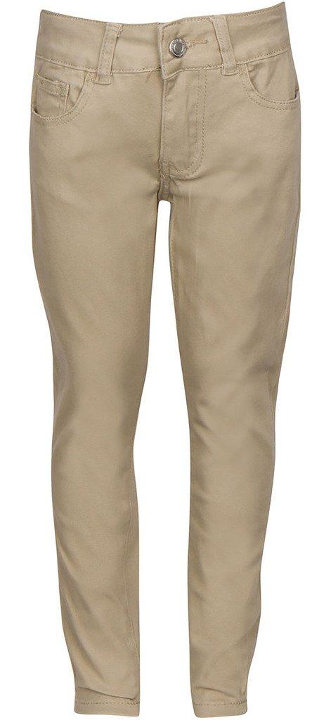 Premium Skinny Stretchable School Uniform Pants For Girls 12 Khaki