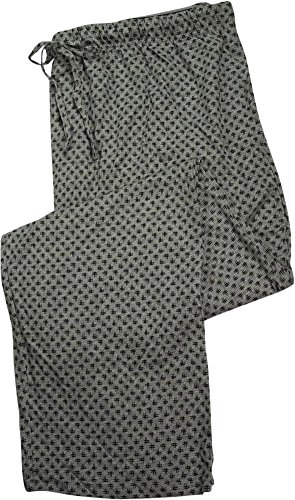 Mens 100% Cotton Pants (HANES Big Mens Hashtag Printed Knit Sleep Pajama Pant, Grey 39905-XX-Large)