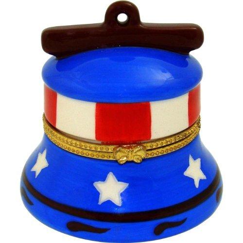 Enameled Holiday Bells - Anneau De La Liberte Artform Enamel Trinket Box Liberty Bell