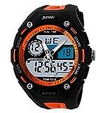 SKMEI Men's SK1015D Outdoor Sports Dual Time Zone Display Waterproof Watch Orange