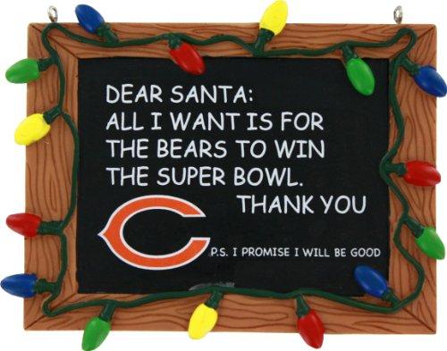 Chicago Bears Resin Chalkboard Sign Ornament