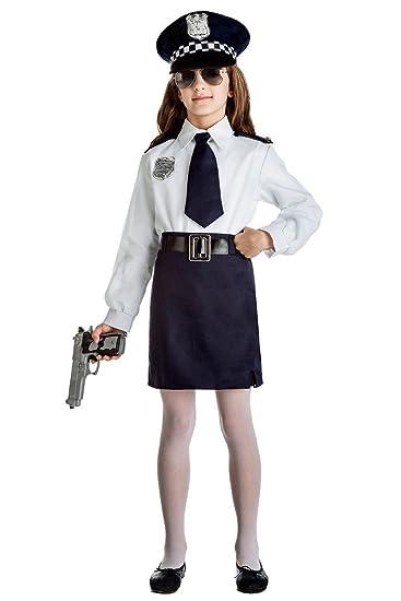 DISFRAZ POLICIA NIÑA TALLA 5-6