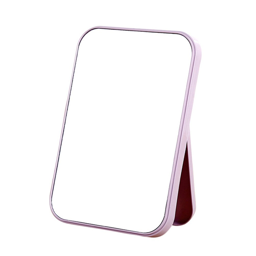 Beaupretty Cosmetic Mirror,Folding Desktop Makeup Mirror with Stand Compact Makeup Mirror for Home(Light Purple)