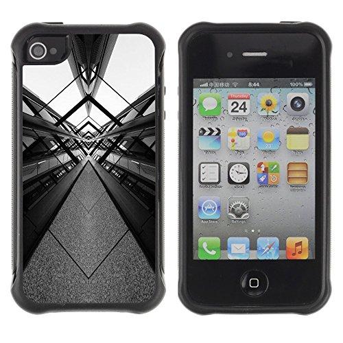 Apple Iphone 4 / 4S - White Design Architecture Art