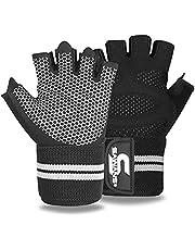 Rękawice do podnoszenia ciężarów siłownia trening fitness opaska na nadgarstek wsparcie mężczyźni kobiety rękawiczki bez palców pełne palec ekran dotykowy wyściełane antypoślizgowe dłoni kulturystyka uchwyt treningowy