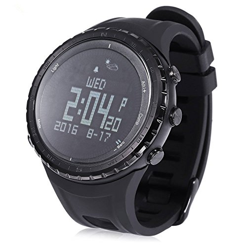 Outdoor Digital Altimeter Barometer Watch, Pedometer Thermometer Weather Forecast Compass Sports Watch Waterproof Wrist Watch for Climbing, Running, Fishing