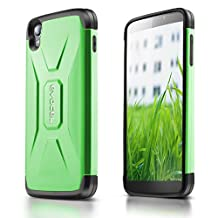 "Evocel® Alcatel OneTouch IDOL 3 (4.7"") [X-Generation Series] Slim Fit Dual Layer Design Hybrid Armor Protective Case For Alcatel OneTouch IDOL 3 (4.7 inch), Lime Green (EVO-ALIDOL3-VV12)"