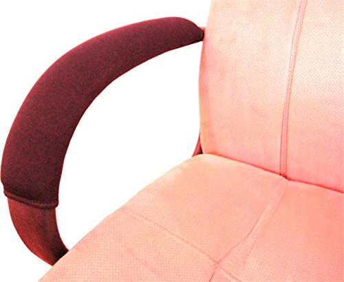 Wakaka Brown Office Home Polyester Removable Durable Machine Washable Office Chair Armrest Slipcovers Covers by Wakaka