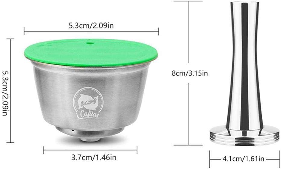 KOBWA Cápsulas Filtros de Café Recargable Reutilizable para Dolce ...