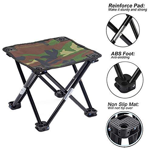 HANERDUN Mini Foldable Fishing Chair Camping Stool Portable Chair for Outdoor Beach Fishing Camping