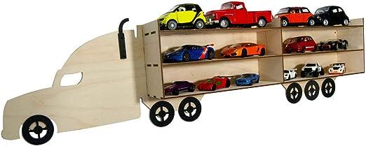 BABEES Setzkasten para coches/Modellautos/juguetes como, por ejemplo, B. Hot Wheels, vitrina de madera para coleccionar, estantería de pared para colgar, caja de almacenamiento, vitrina para camiones: Amazon.es: Juguetes y juegos