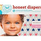 Honest Diapers Size 3 16-28 lbs. Confetti Hearts Design