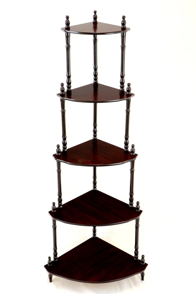 Amazon Frenchi Home Furnishing 5 Tier Corner Stand Cherry Kitchen Dining