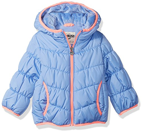 OshKosh B'Gosh Baby Girls Perfect Puffer Jacket, deep Night Blue, - Down Jackets Apparel